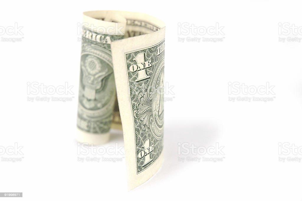 Dollar White Background royalty-free stock photo