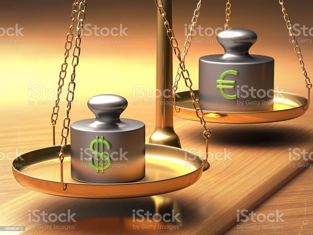 Dollar x Euro stock photo