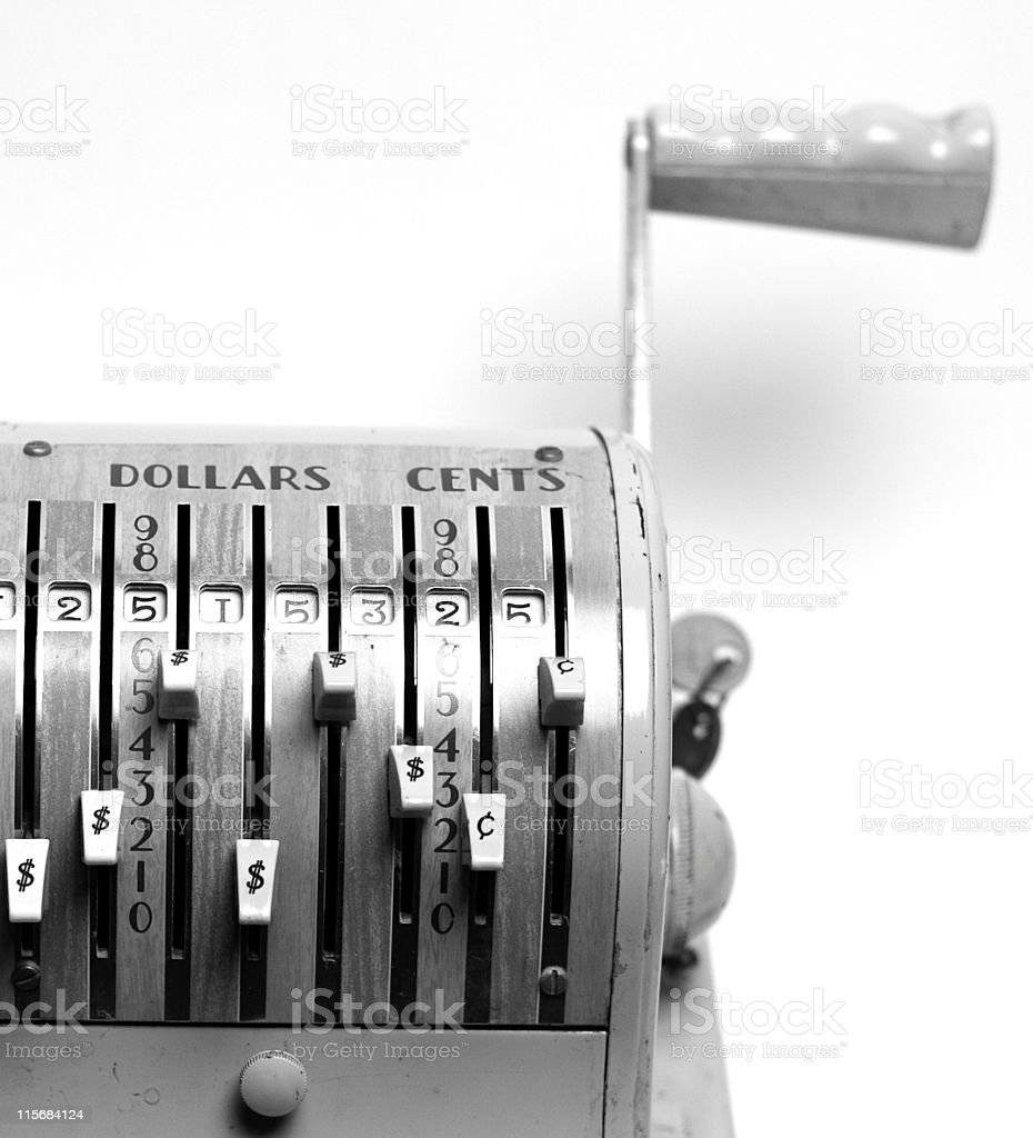 Dollars and Cents (B&W) stock photo