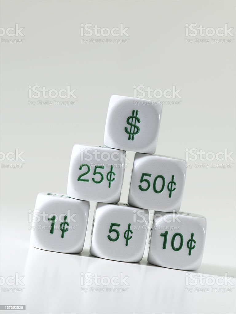 Dollars and Cents X XXL royalty-free stock photo