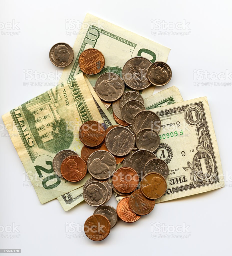 Dollars and cents XXL stock photo