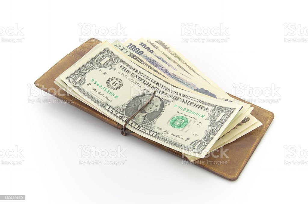 US dollars and Japanese Yen stock photo