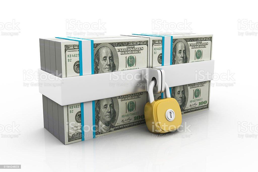 Dollars and lock stock photo