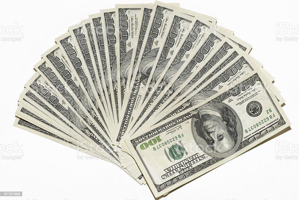 US dollars background royalty-free stock photo