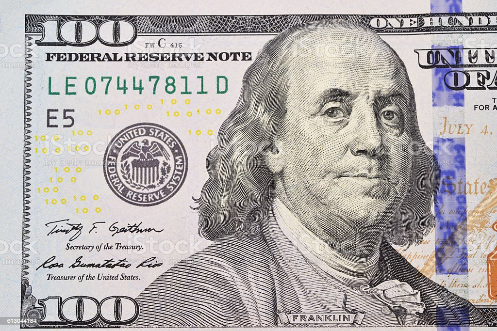dollars banknote stock photo