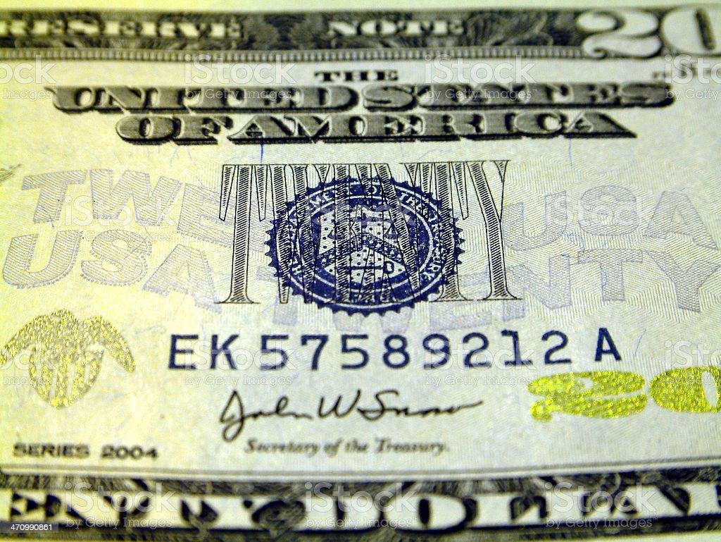dollars banknote series 2004 stock photo