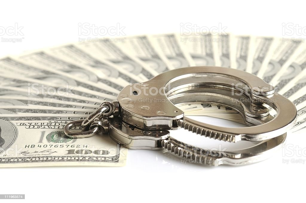 Dollar's crime royalty-free stock photo