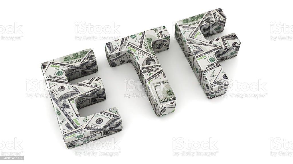 Dollar's ETF stock photo