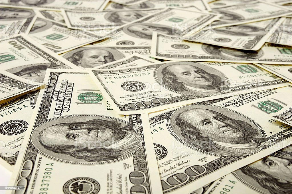 Dollars flow royalty-free stock photo