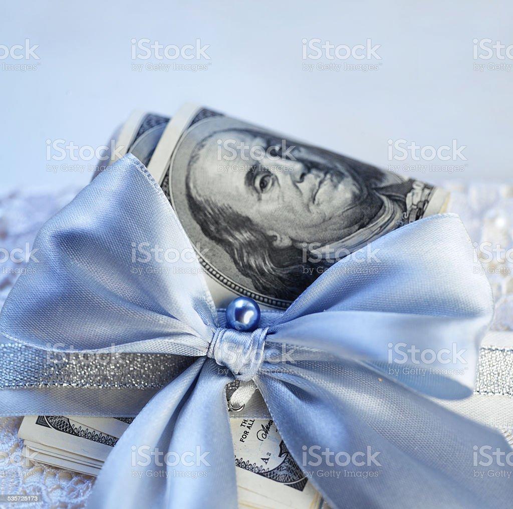 Dollars Gift stock photo