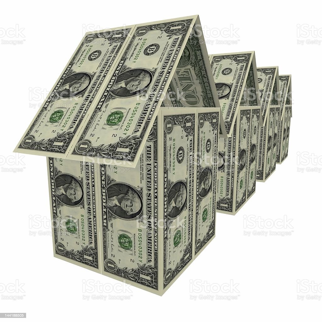 dollars houses royalty-free stock photo