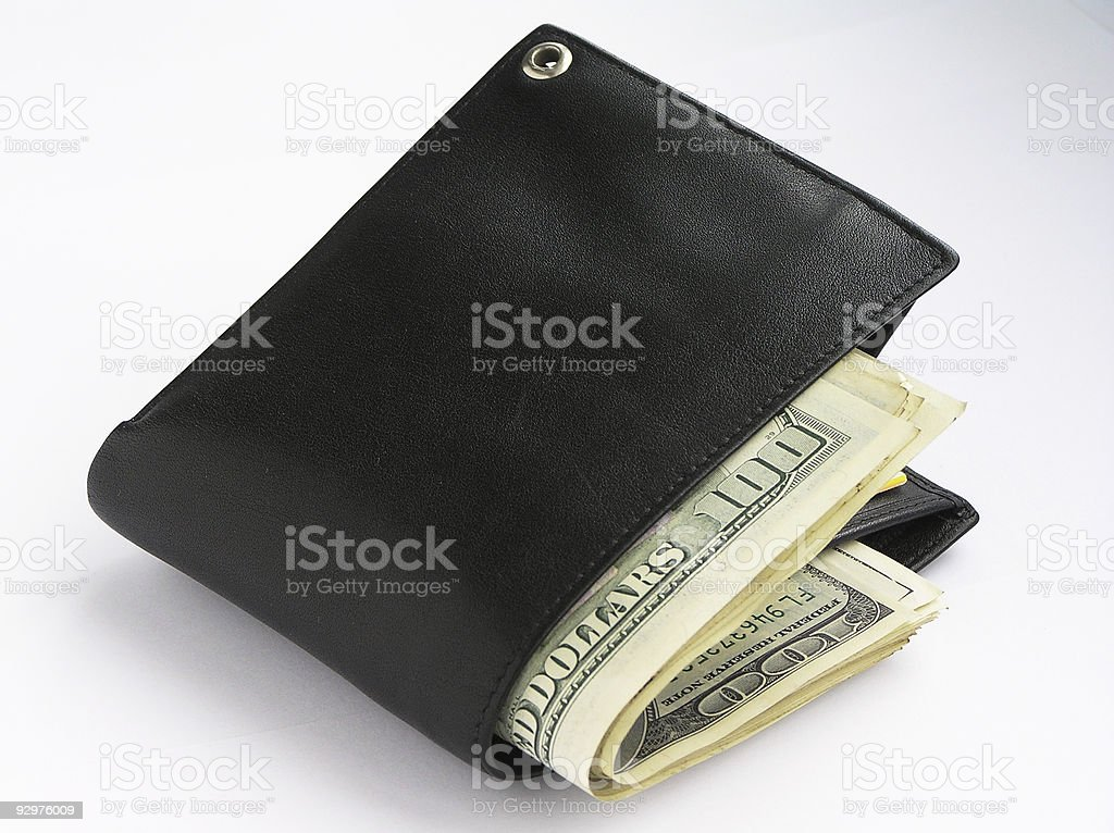 Dollars in a purse royalty-free stock photo