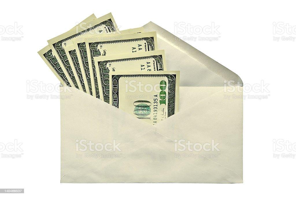 Dollars in envelope royalty-free stock photo