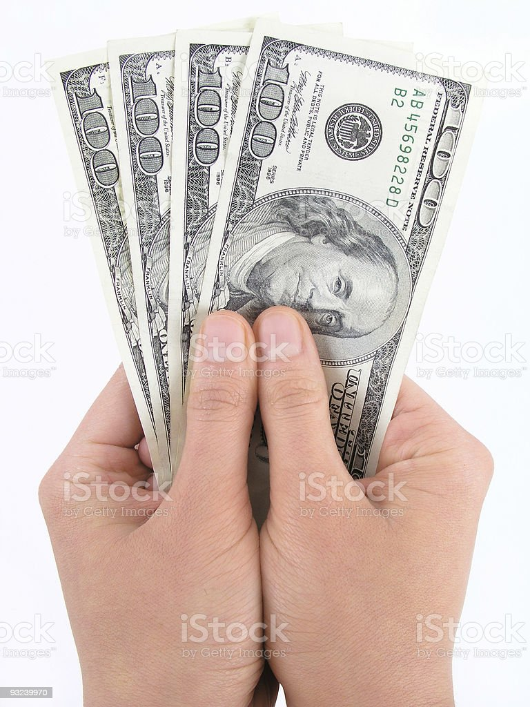 Dollars in hands royalty-free stock photo