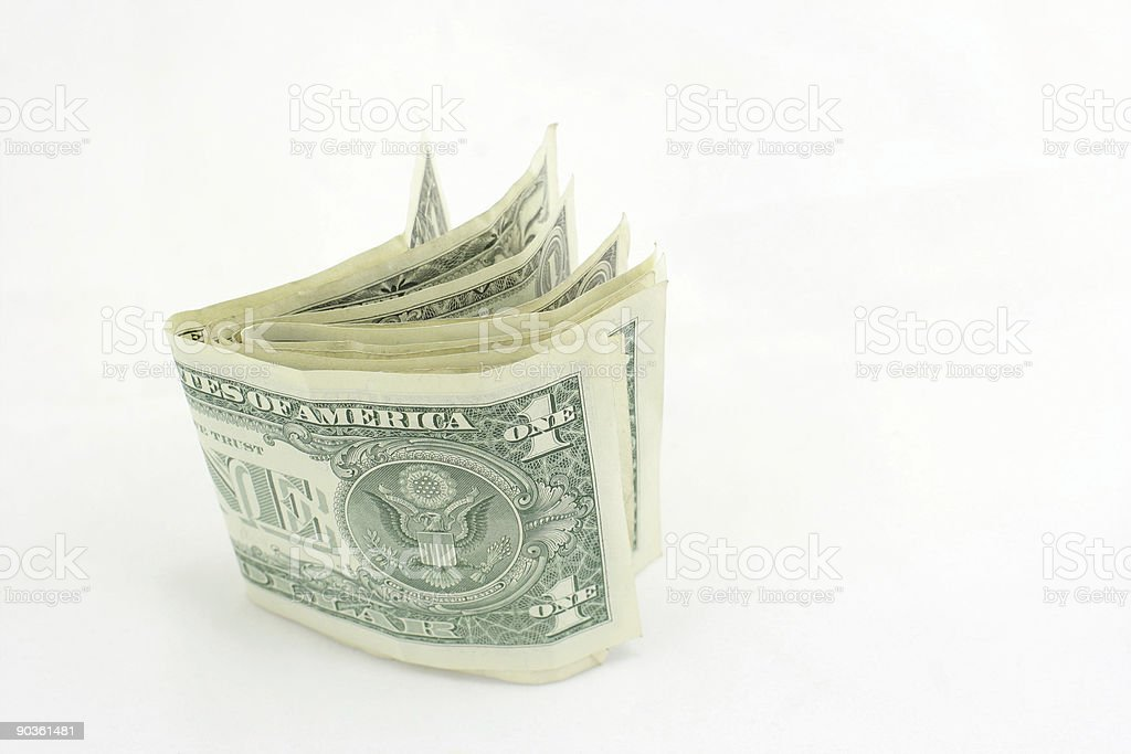 US dollars on a white background royalty-free stock photo