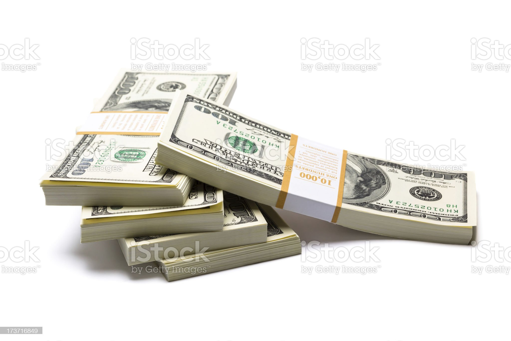 Dollars on white background royalty-free stock photo
