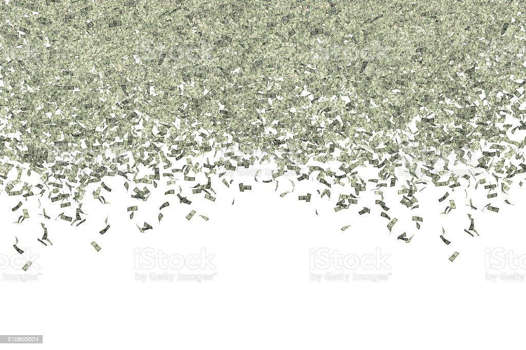 Dollars on White stock photo
