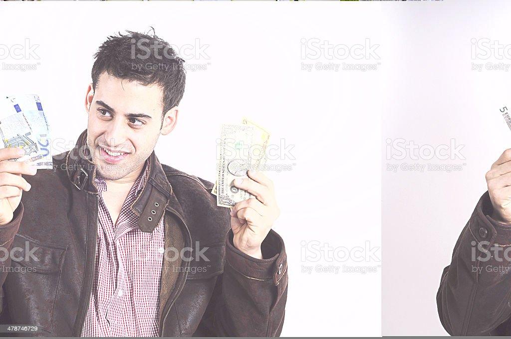 Dollars or Euro money stock photo
