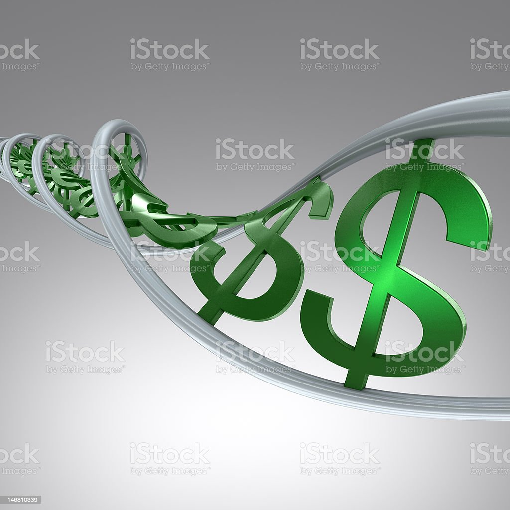 DNA Dollars royalty-free stock photo