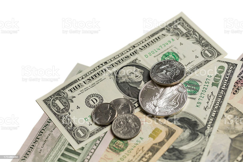 dollars (clipping path) royalty-free stock photo