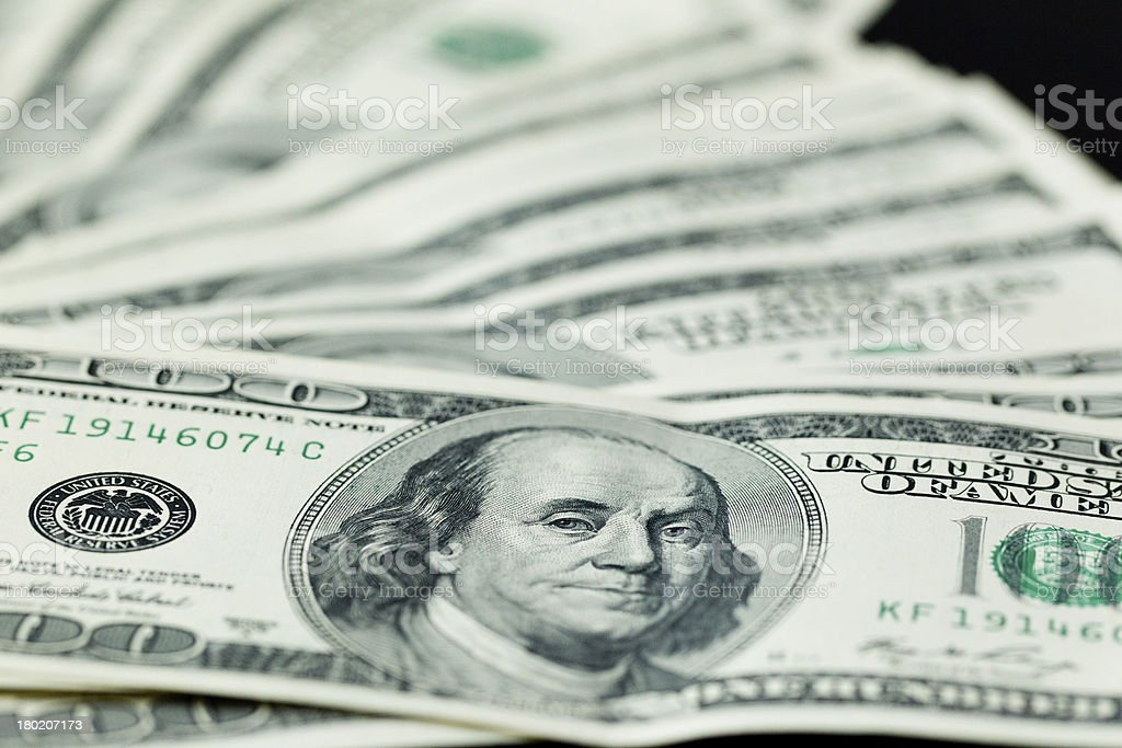 USA 100 dollars. stock photo