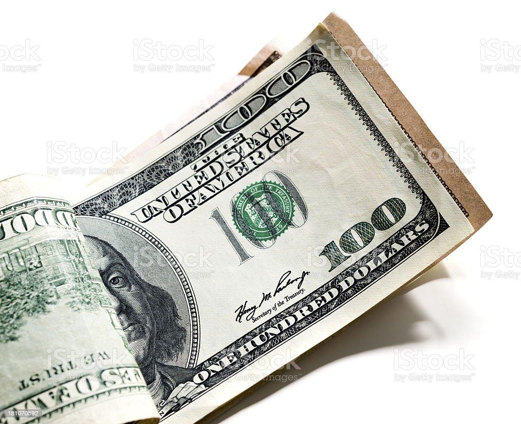 100 dollars royalty-free stock photo