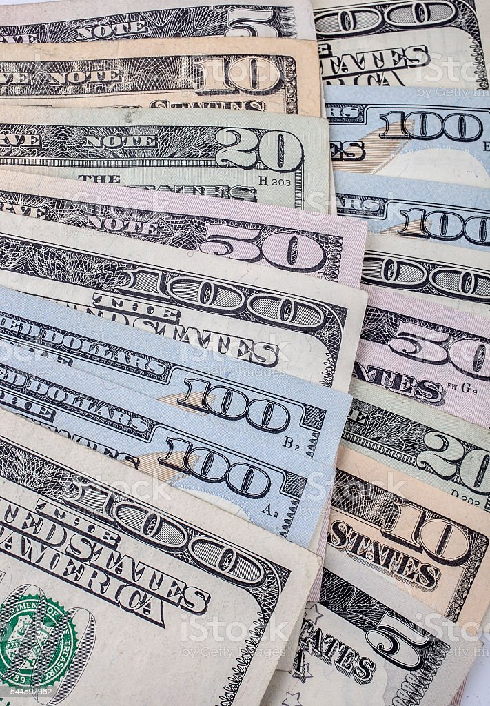 USD dollars stock photo