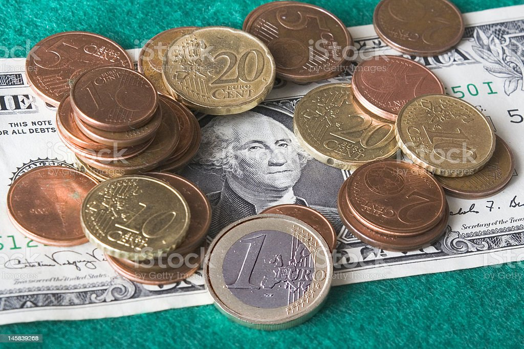 Dollar's slump stock photo