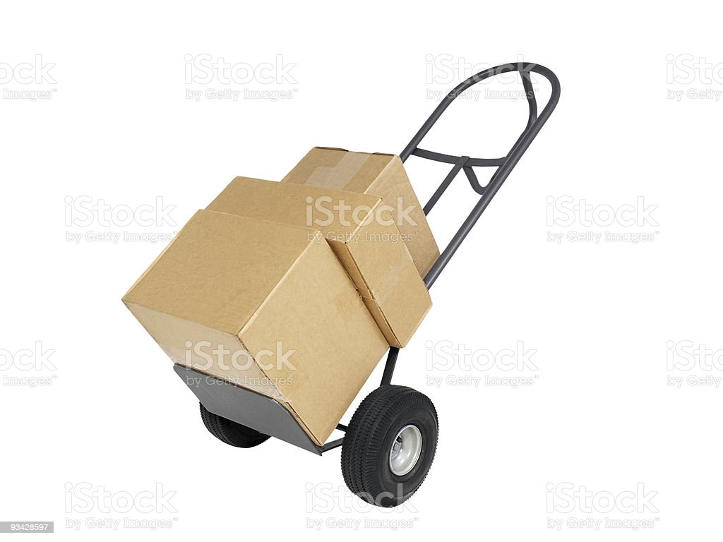 Dolly with Boxes royalty-free stock photo