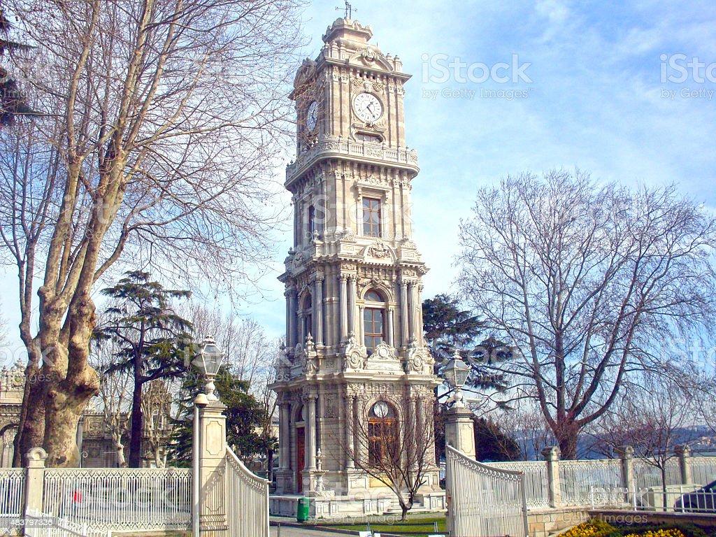 Dolmabahce Clock Tower stock photo