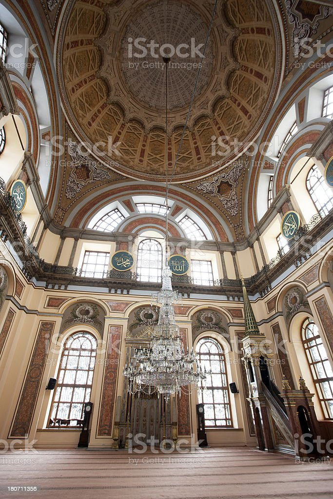 Dolmabahce Mosque in istanbul royalty-free stock photo