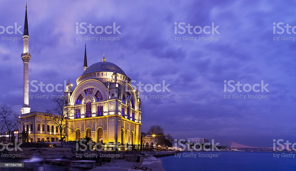 Dolmabahce mosque (Istambul,Turkey) stock photo