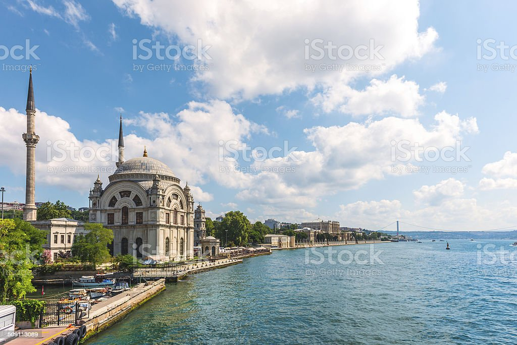 Dolmabahce Mosque stock photo