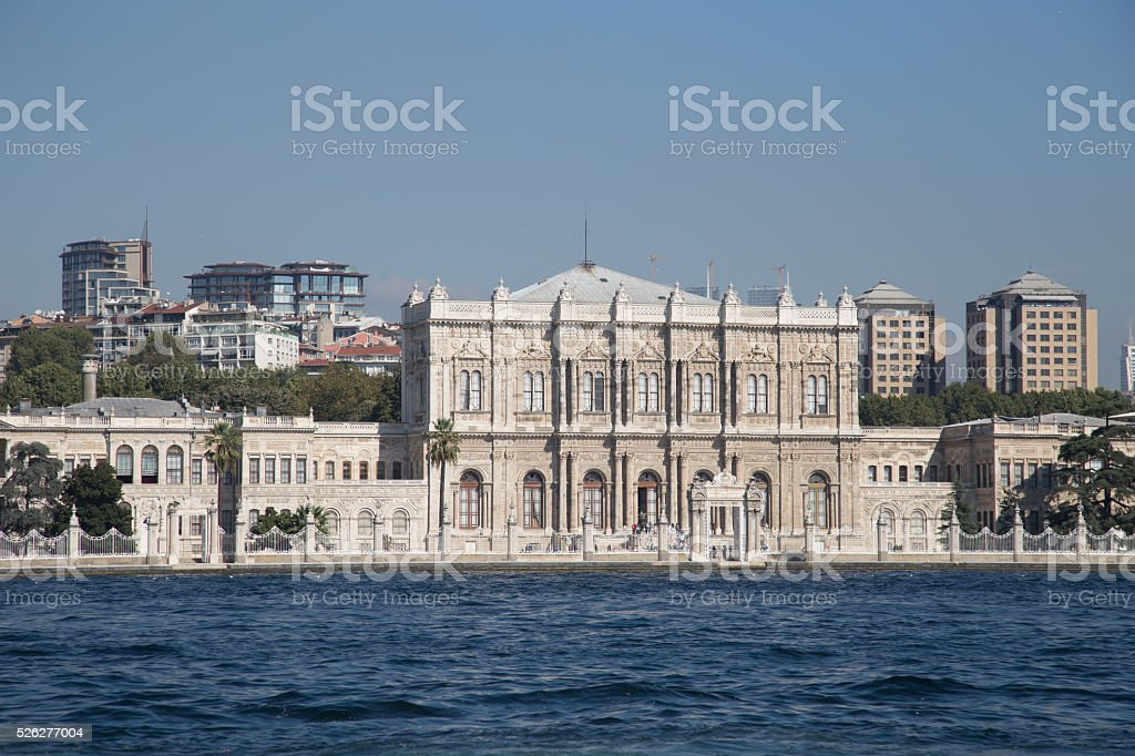 Dolmabahce Palace in Besiktas, Istanbul City, Turkey stock photo