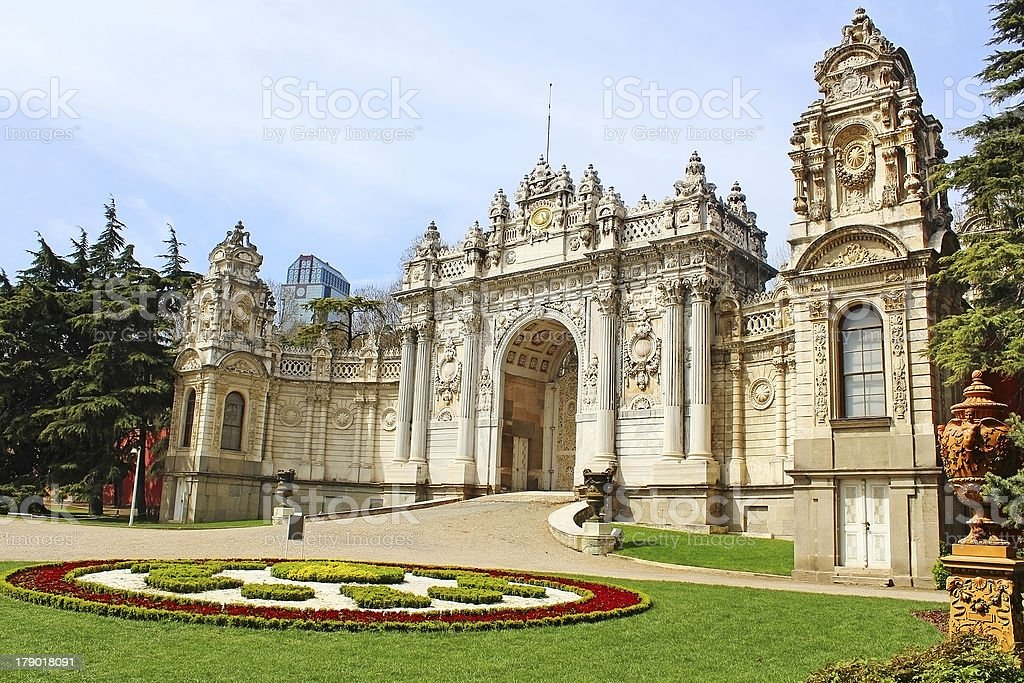 Dolmabahce Palace in Istanbul, Turkey stock photo