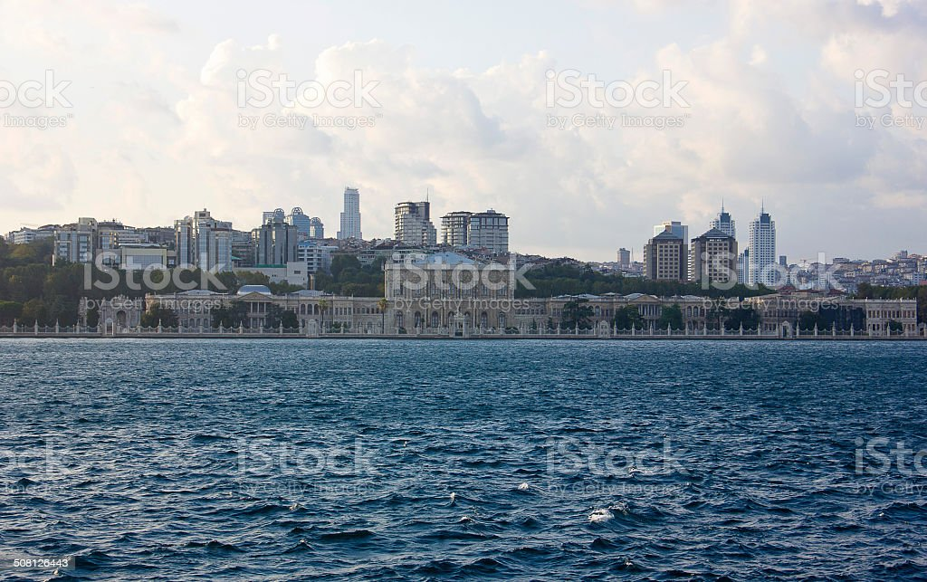 Dolmabahce palace, istanbul. stock photo