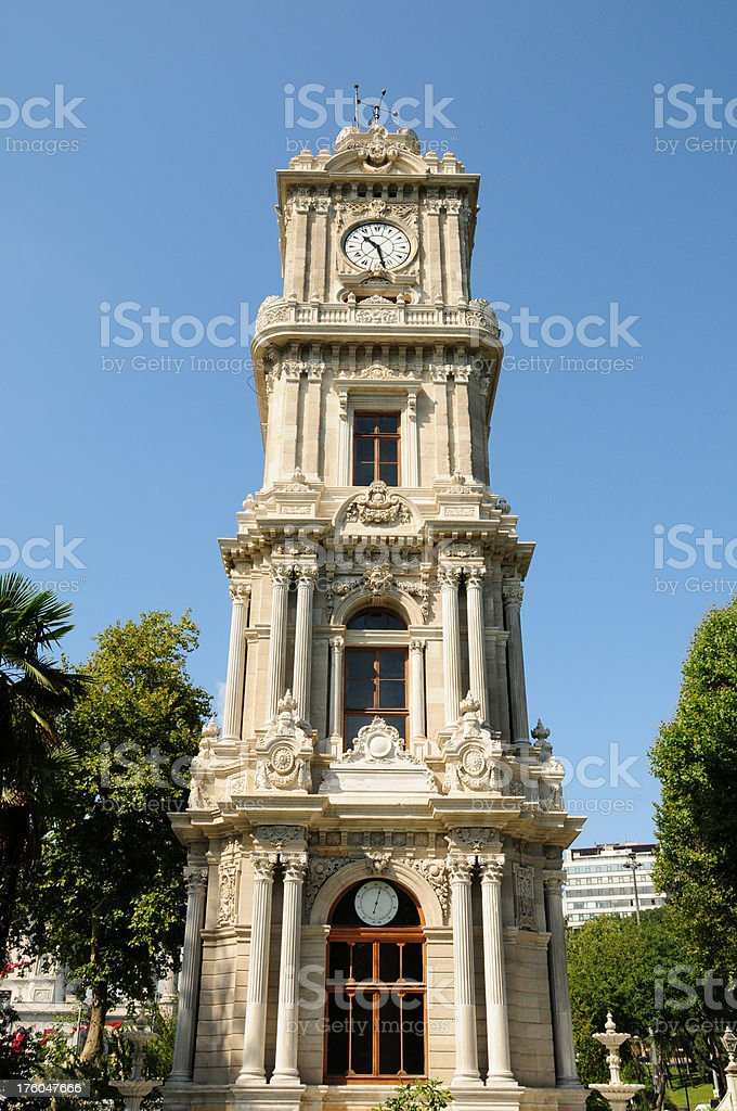 Dolmabahçe Palace Clock Tower stock photo