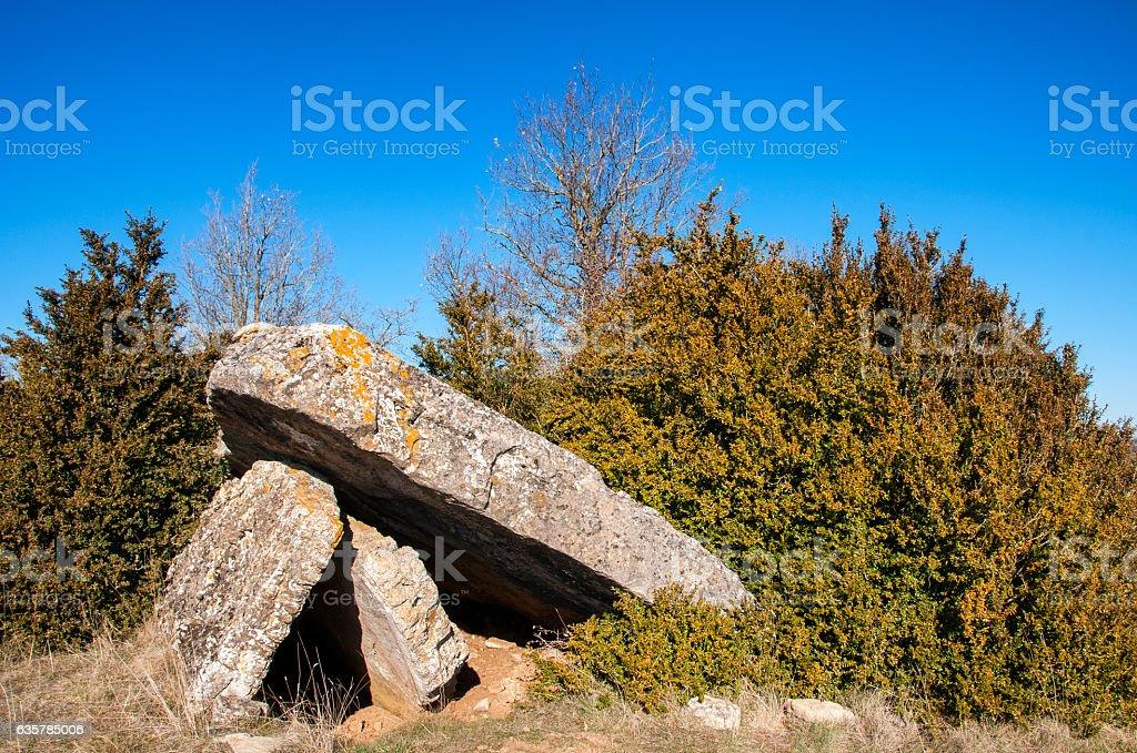 dolmen du Quercy stock photo