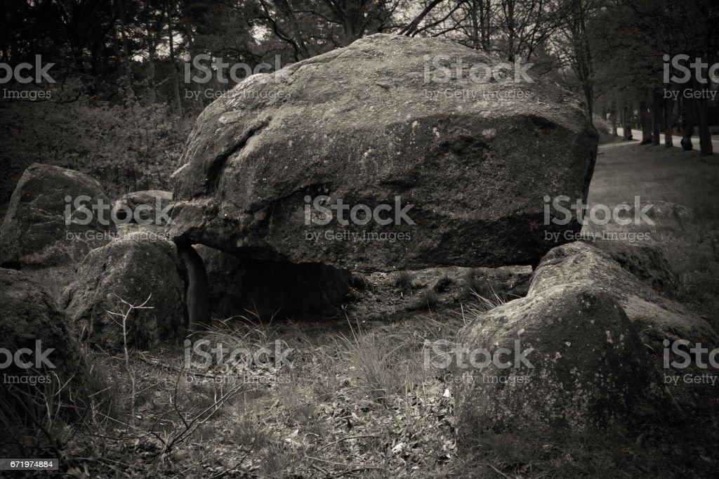 Dolmen in Mellen, Prignitz, Brandenburg, Germany stock photo