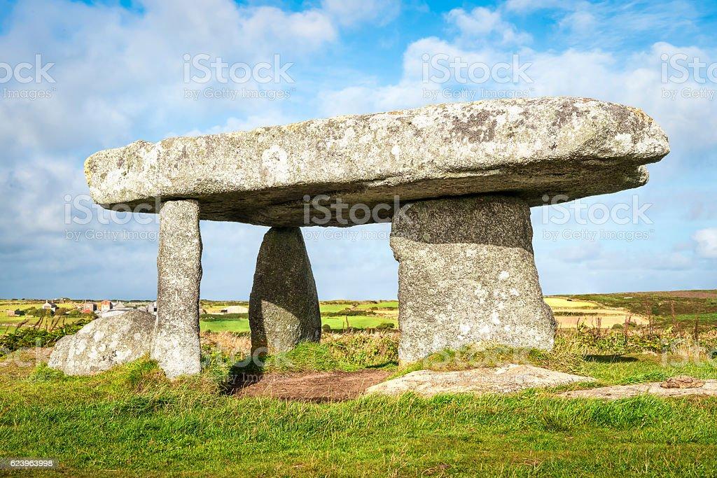 Dolmen Lanyon Quoit in Cornwall stock photo
