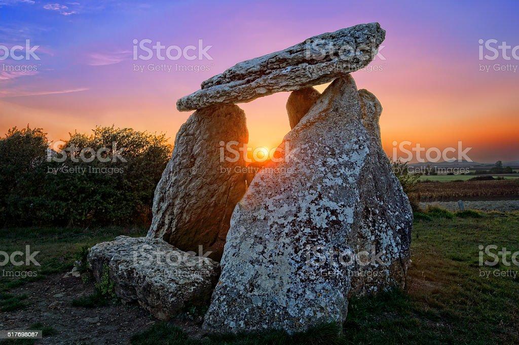 Dolmen of Sorginetxe stock photo
