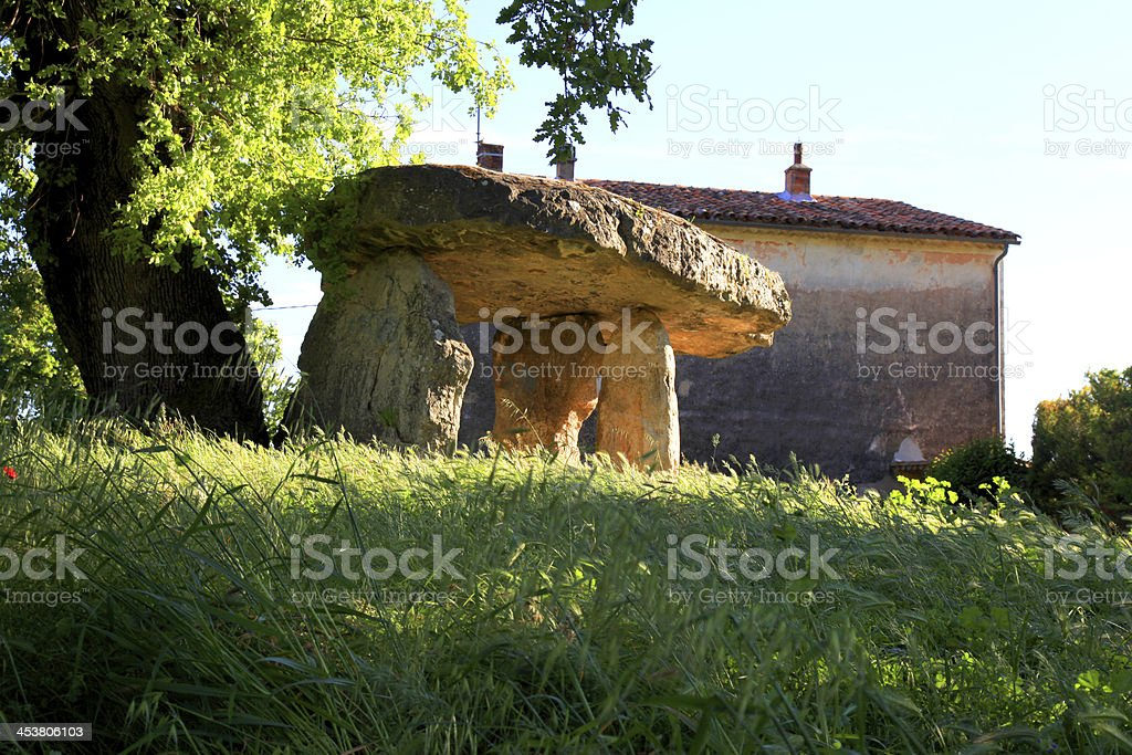 Dolmen, Provence, France royalty-free stock photo