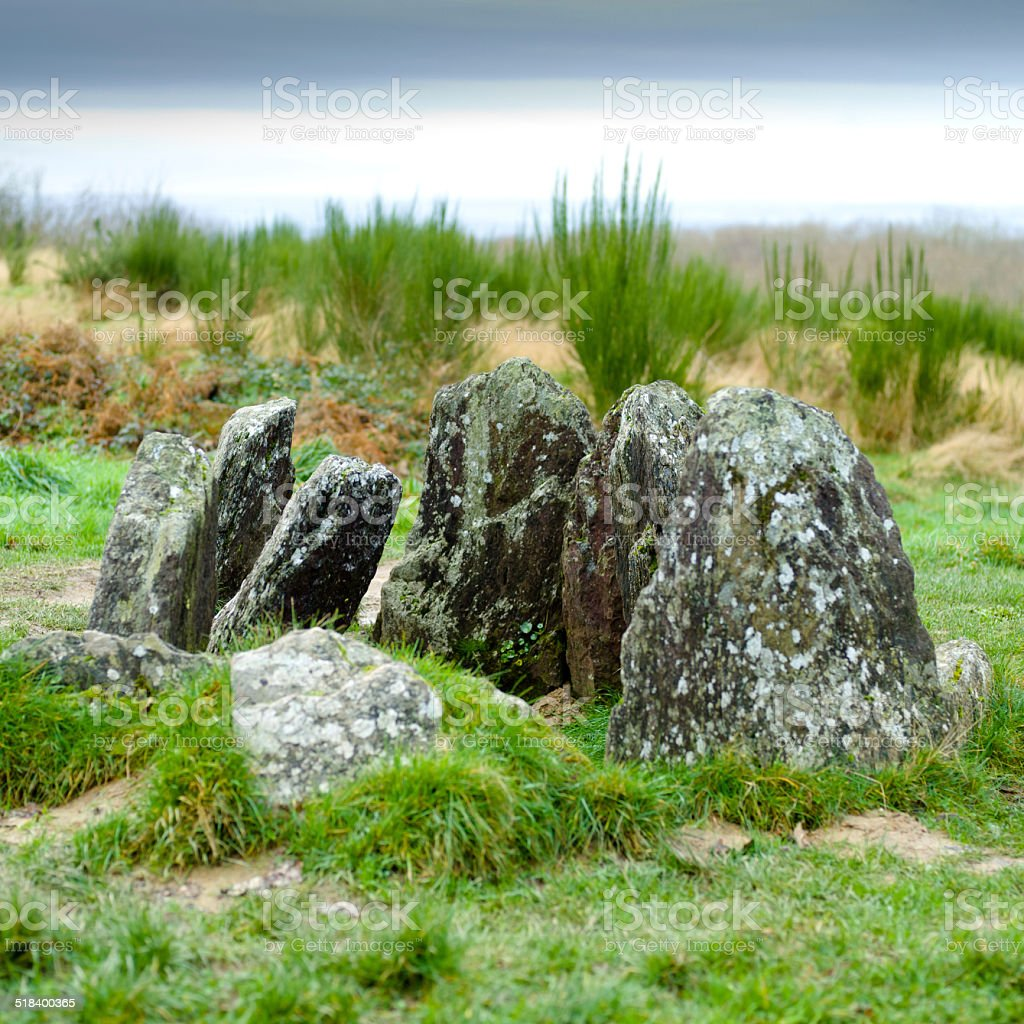 Dolmens - Arthurian Romance - France stock photo