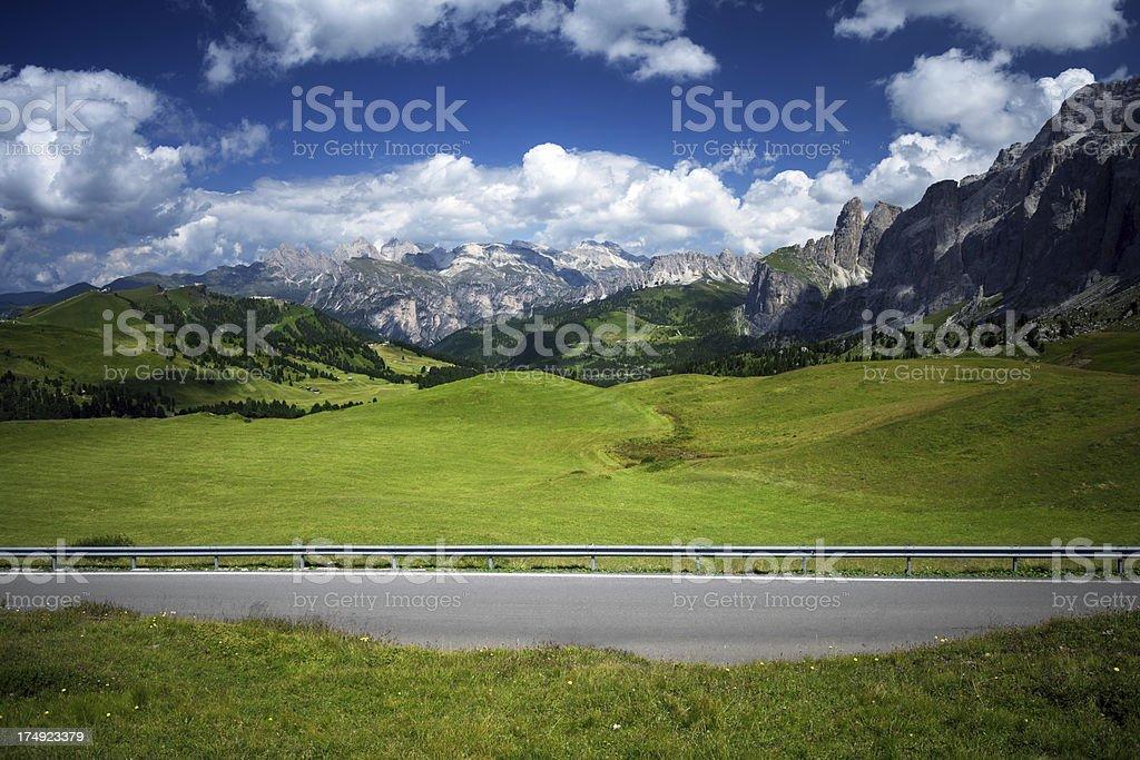 Dolomite Alps valley royalty-free stock photo