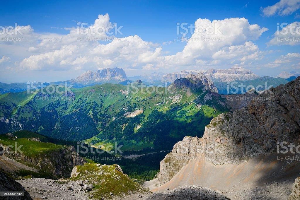 Dolomite landscape in Italian Tirol stock photo