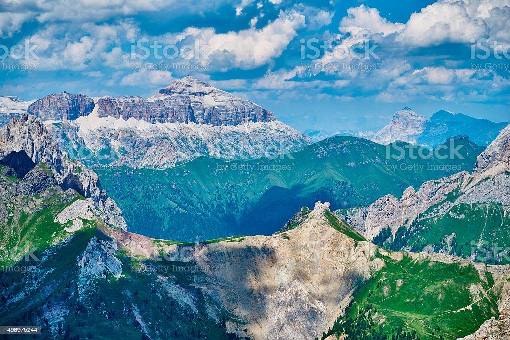 Dolomite landscape in tirol North Italy stock photo