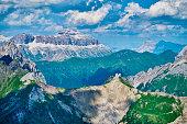 Dolomite landscape in tirol North Italy