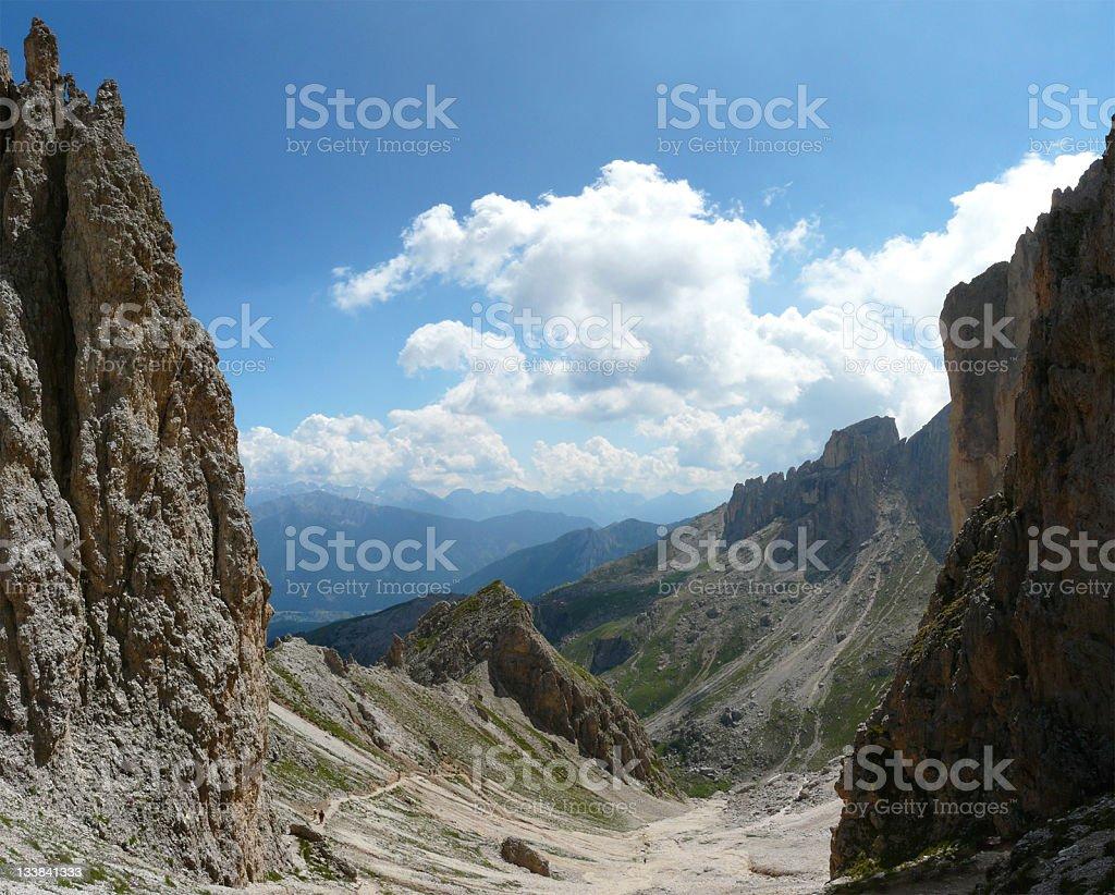 Dolomite landscape stock photo