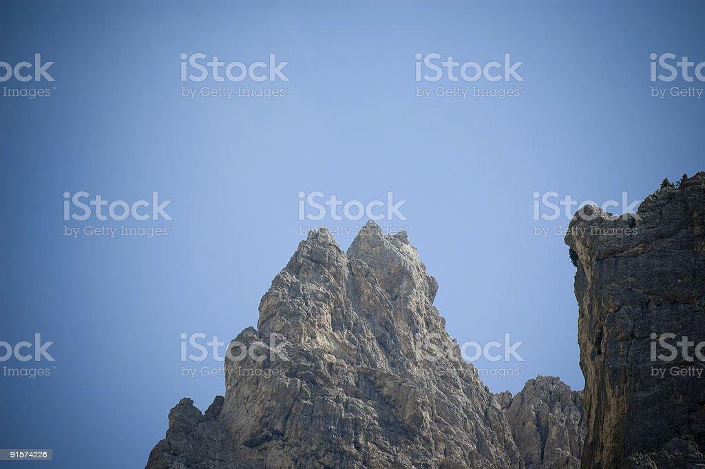 Dolomite Mountain Peaks stock photo