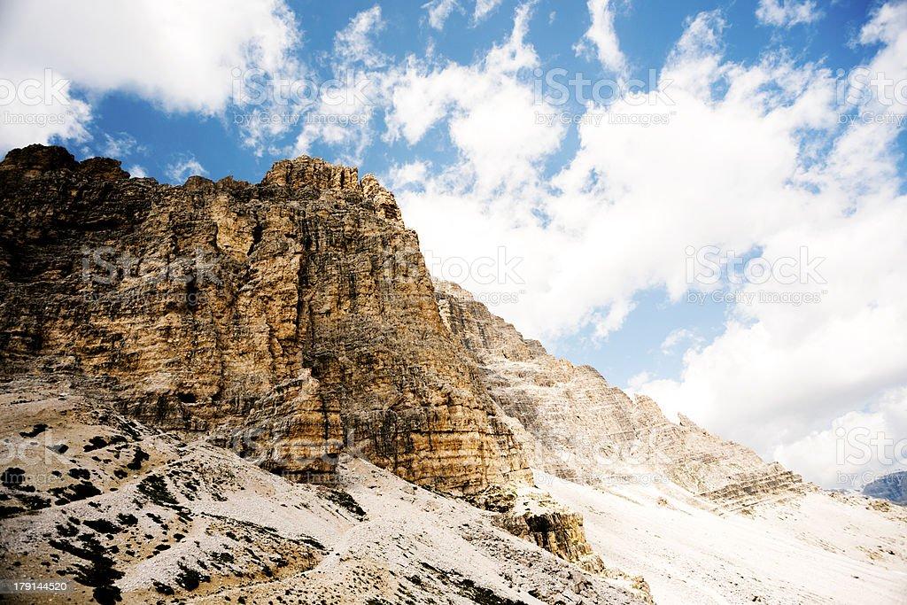 Dolomite mountains royalty-free stock photo